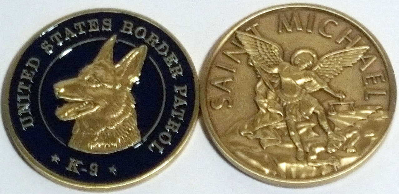 K9 St Michael Coin Ant National Border Patrol Museum